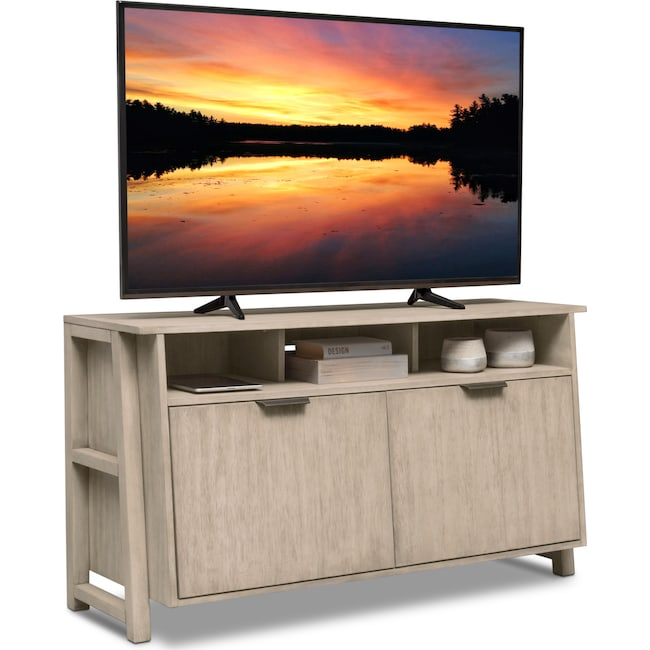 "Entertainment Furniture - Barclay 54"" TV Stand - Gray"