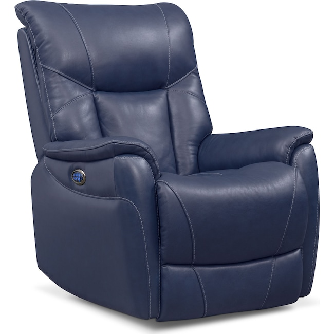 Living Room Furniture - Falcon Triple Power Leather Recliner