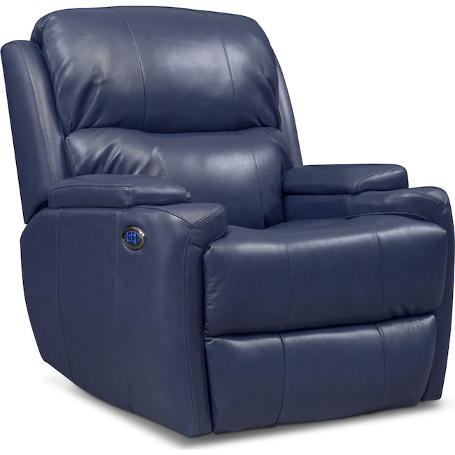 Living Room Furniture - Omega Triple Power Leather Recliner