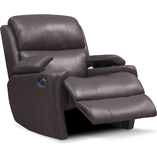 Omega Triple-Power Leather Recliner