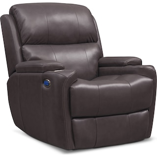 Omega Triple Power Leather Recliner