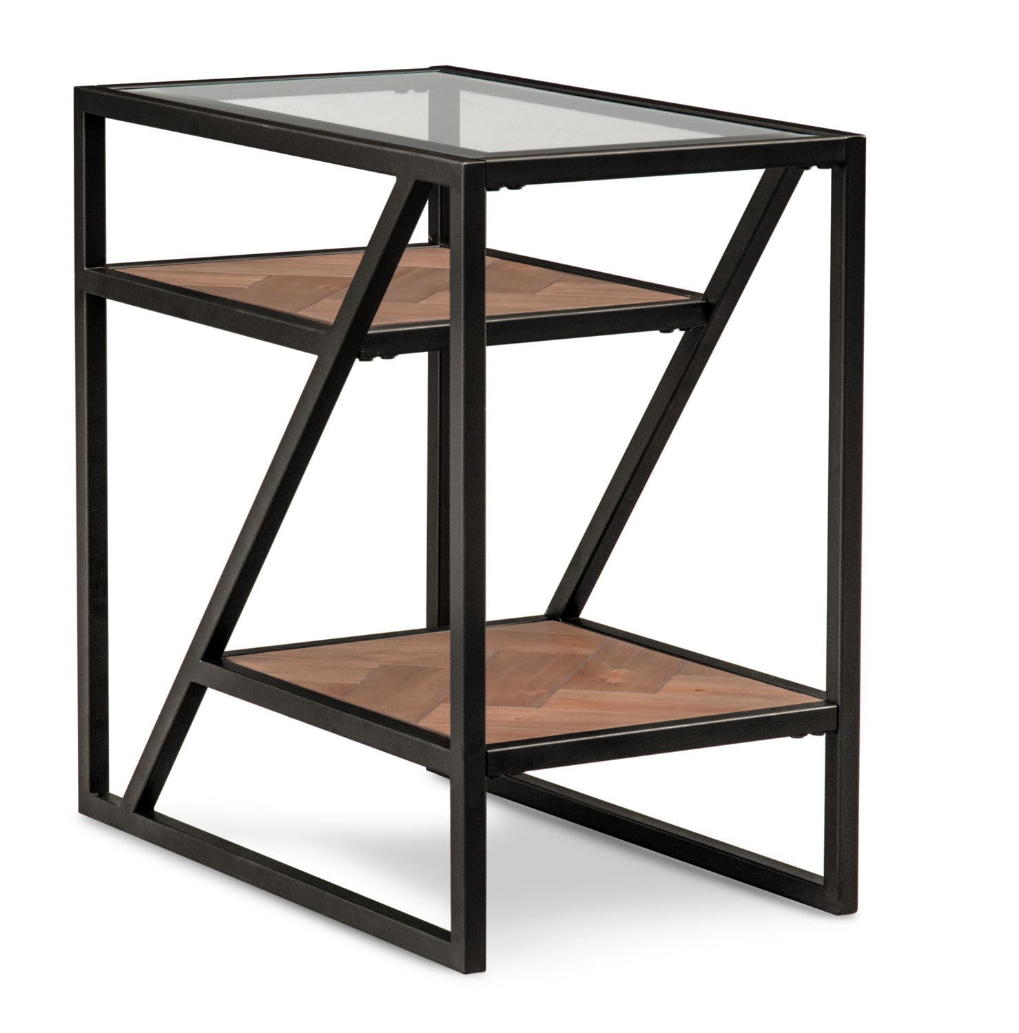 Accent and Occasional Furniture - District Chairside Table - Gunmetal