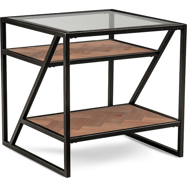 Accent and Occasional Furniture - District End Table - Gunmetal
