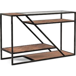 District Sofa Table - Gunmetal