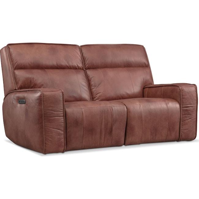 Living Room Furniture - Bradley Power Reclining Loveseat