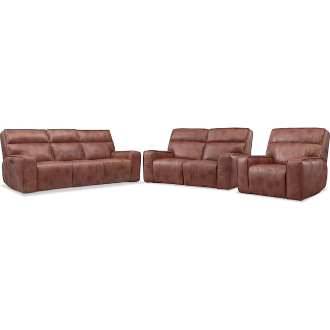 Bradley Triple Power Reclining Sofa Reclining Loveseat