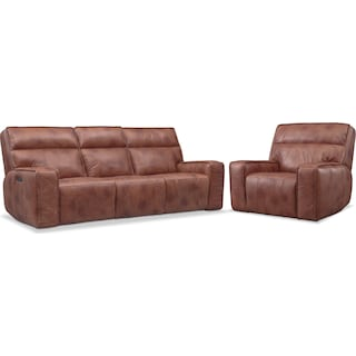 Bradley Triple-Power Reclining Sofa and Recliner Set