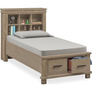 Tribeca Youth Full Bookcase Storage Bed - Gray