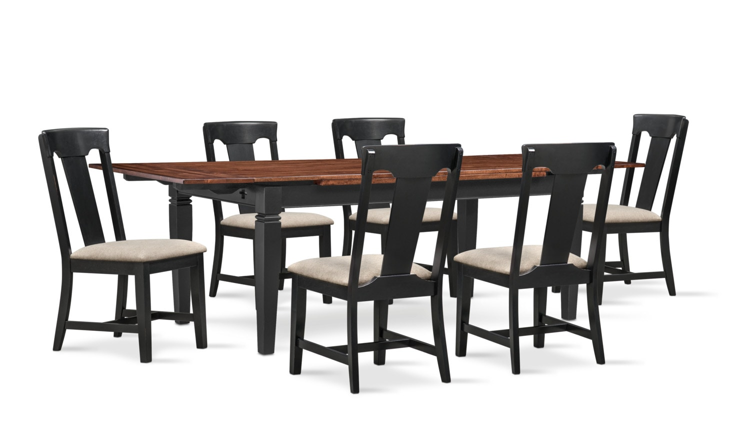 Dining Room Furniture - Adler Dining Table and 6 Dining Chairs
