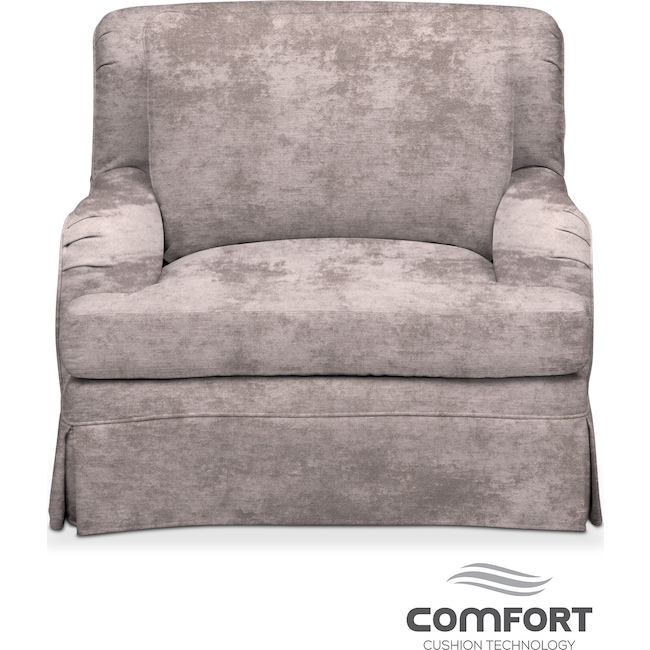 Living Room Furniture - Campbell Comfort Chair - Cement