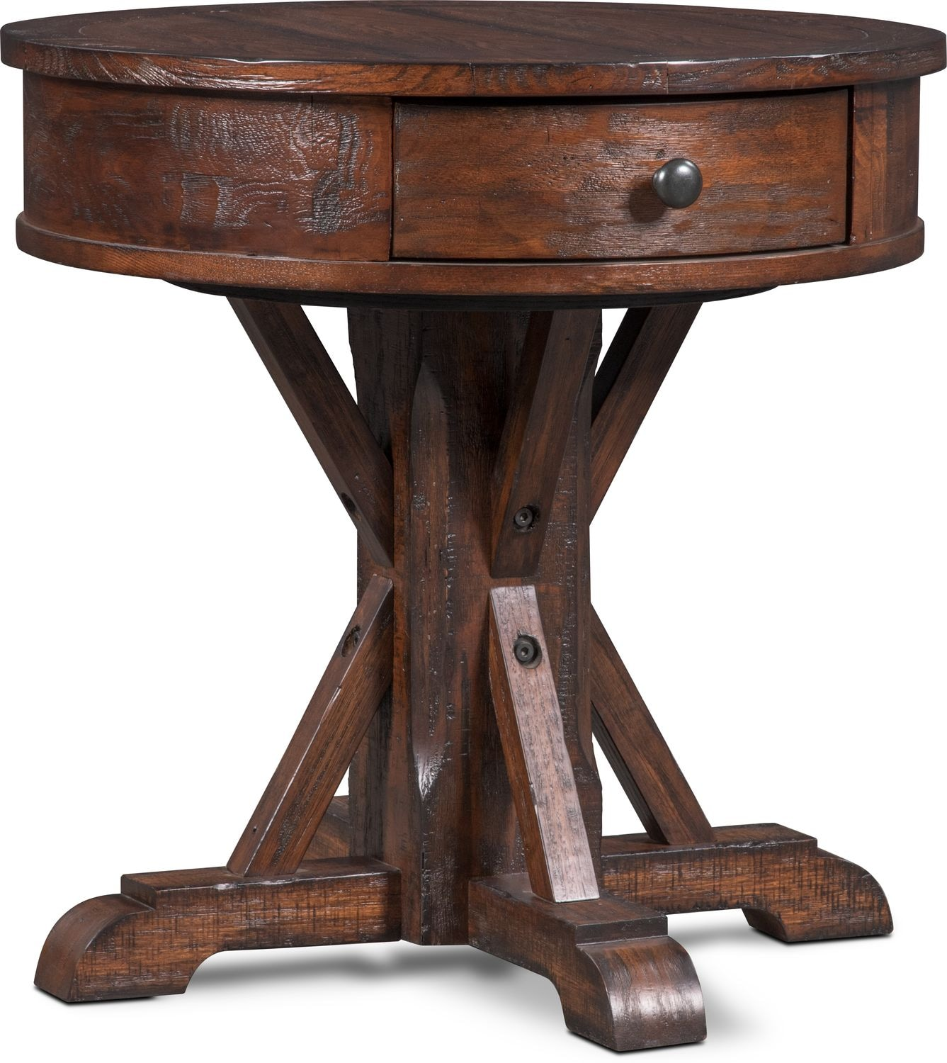 round end tables cheap vintage sheffield round end table walnut value city furniture and mattresses