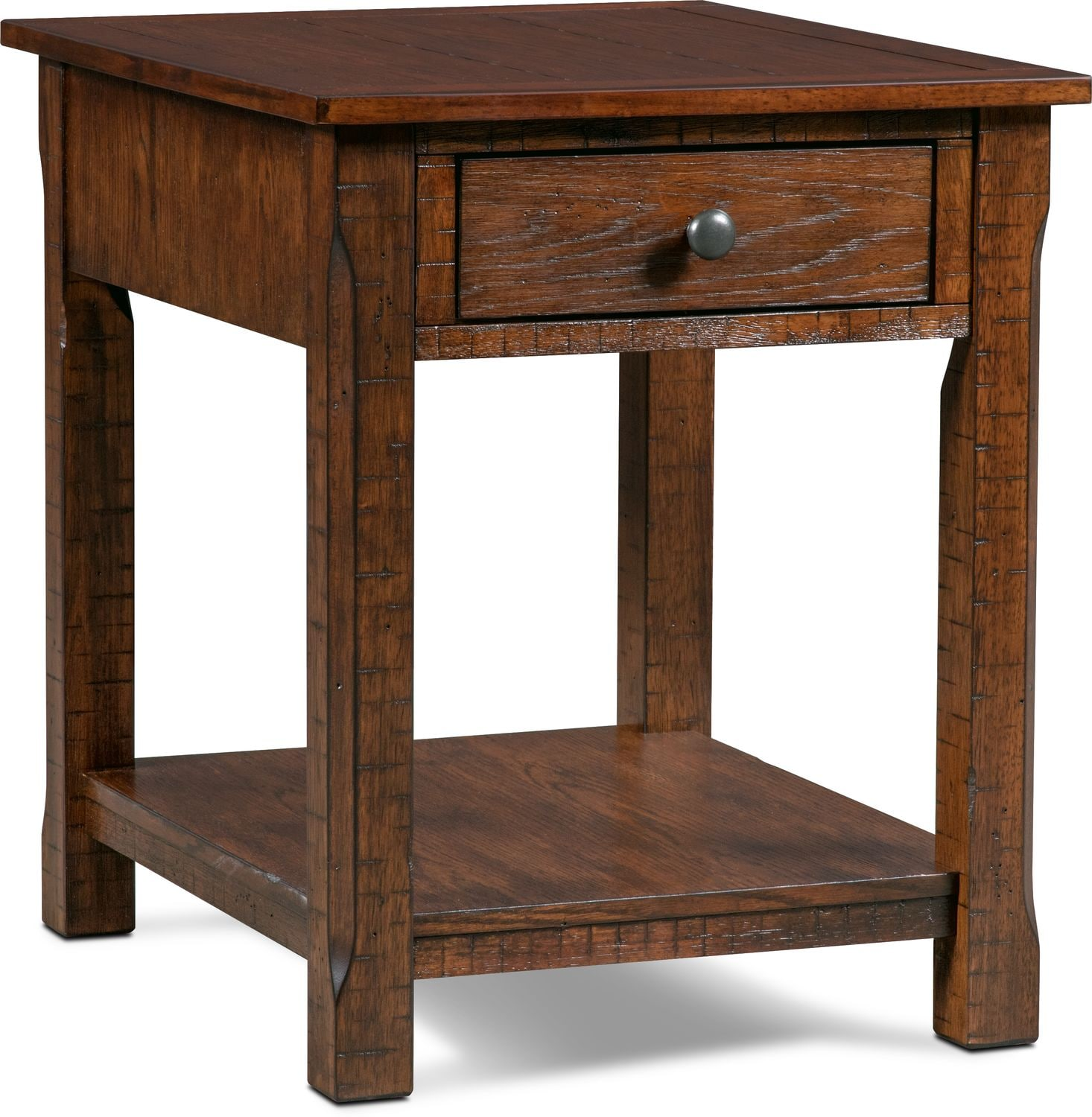 Accent and Occasional Furniture - Sheffield Rectangular End Table - Walnut