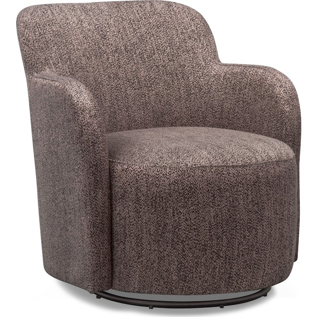 Living Room Furniture - Garcia Swivel Chair - Brown