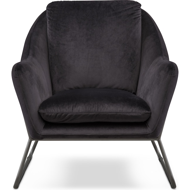 Living Room Furniture - Willow Accent Chair - Black