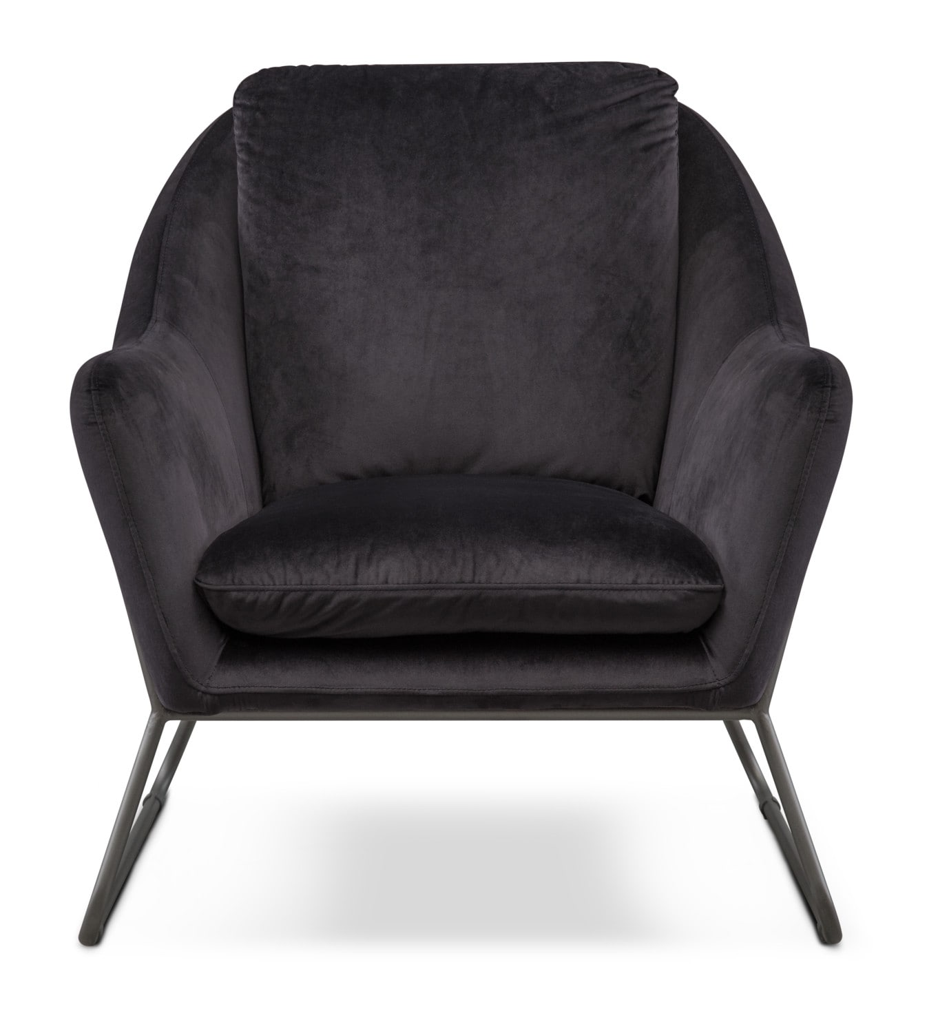 Attirant Living Room Furniture   Willow Accent Chair   Black