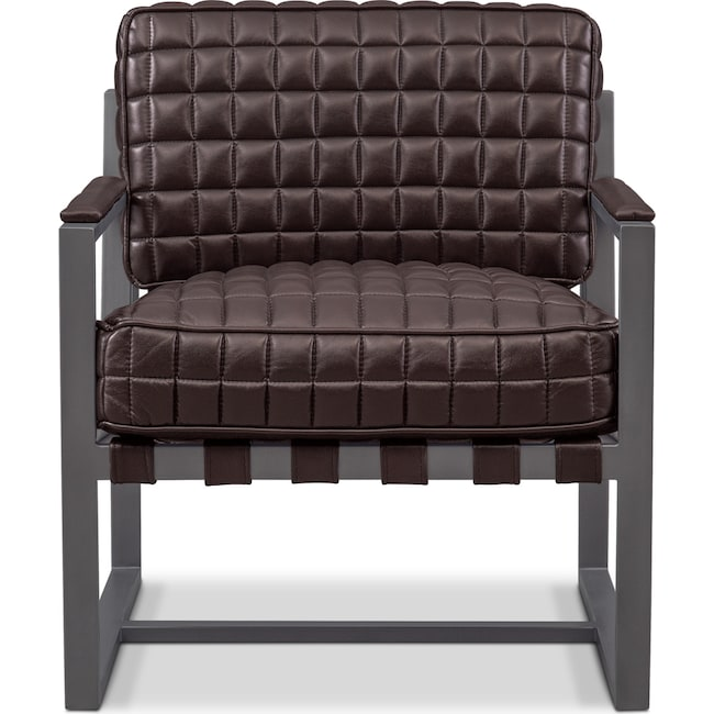 Living Room Furniture - Winston Accent Chair - Brown