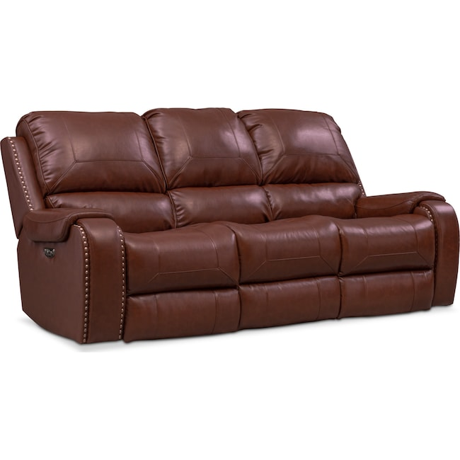 Austin Dual Power Reclining Sofa | Value City Furniture and Mattresses