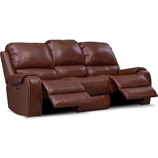 Austin Dual-Power Reclining Sofa - Brown