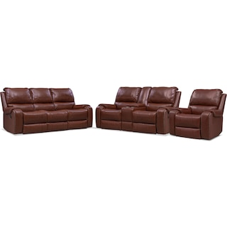 Austin Manual Reclining Sofa, Loveseat and Recliner