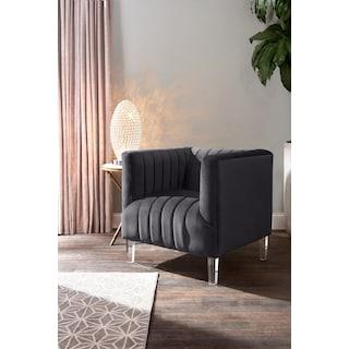 Calle Accent Chair - Gunmetal