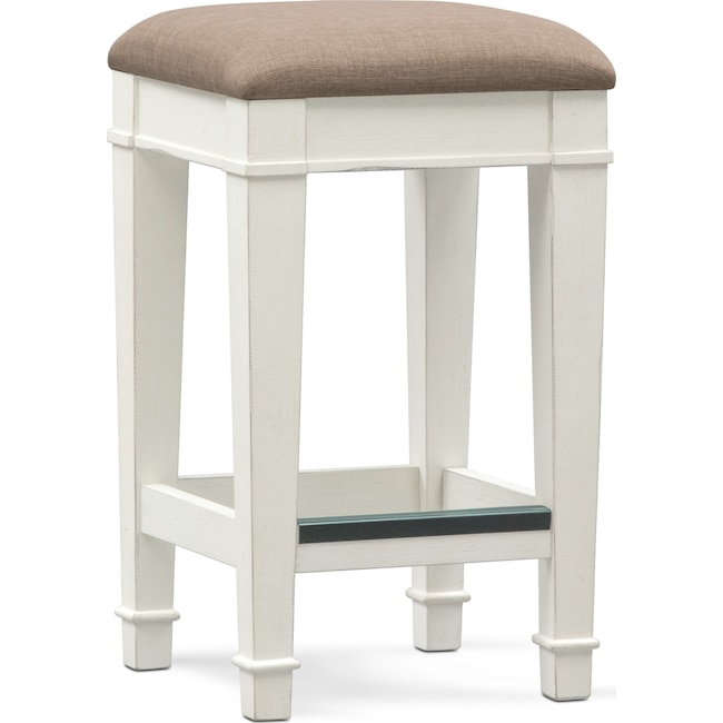 Dining Room Furniture - Waverly Stool - White