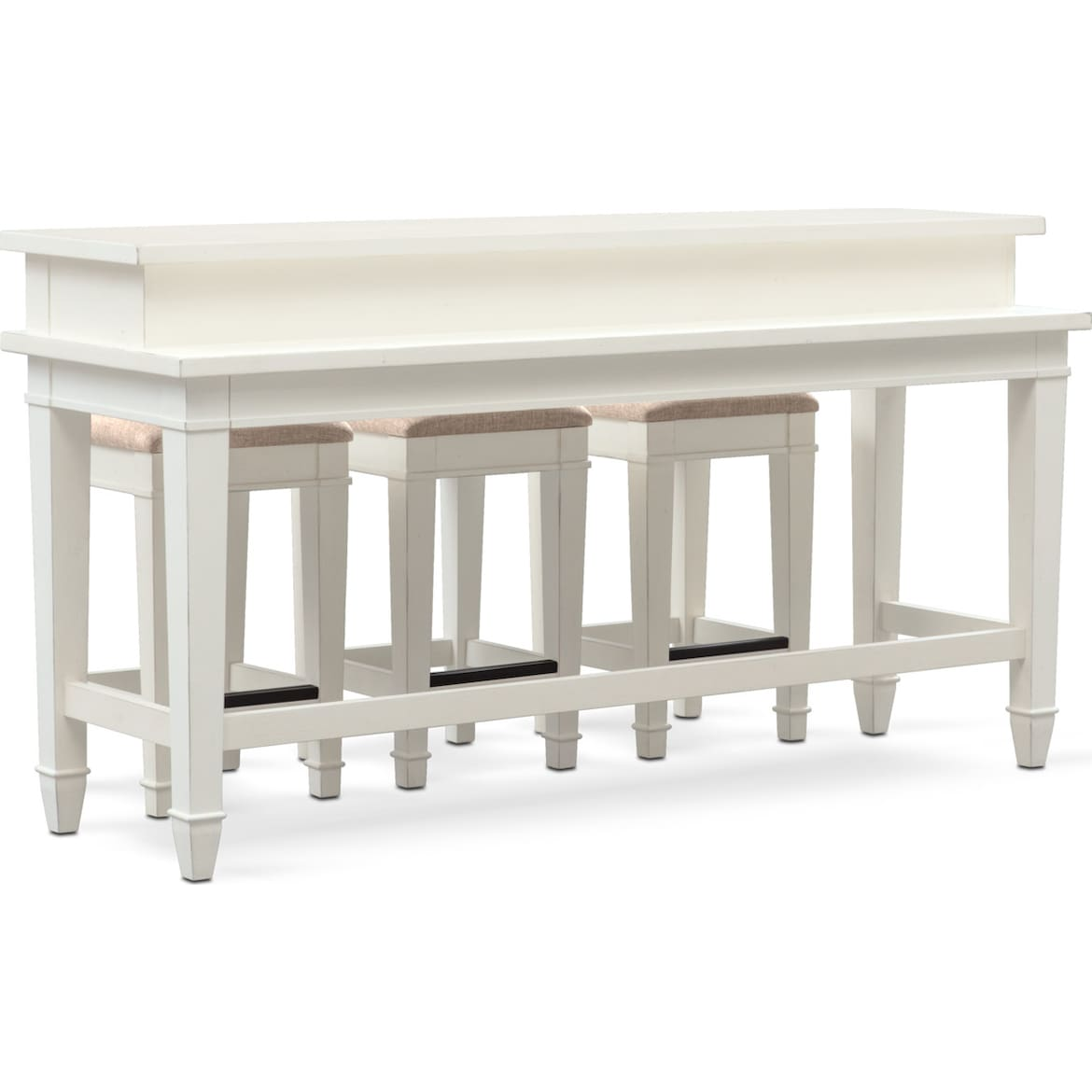 Sofa Table With Stools: Waverly Sofa Table And 3 Stools