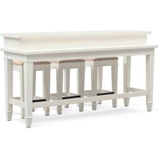 Waverly Sofa Table and 3 Stools