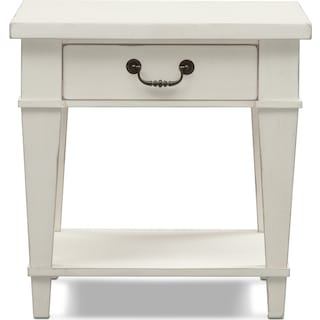 Waverly End Table - White