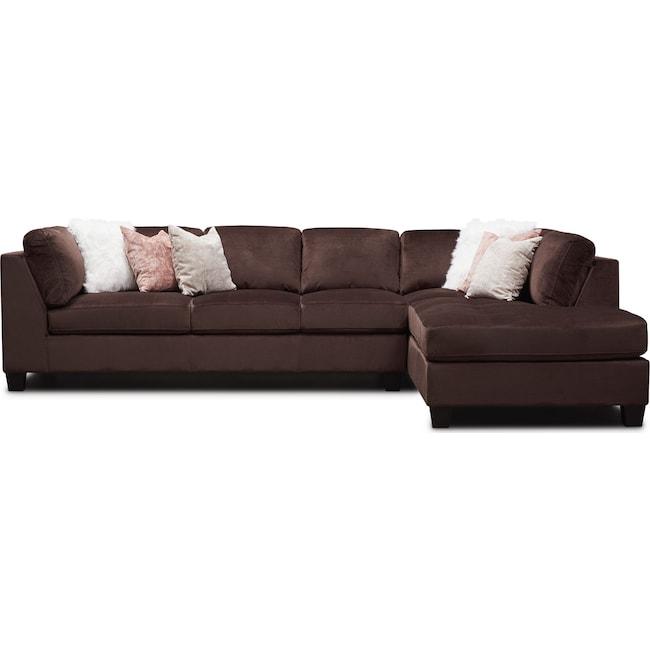 Pleasant Mackenzie 2 Piece Sectional With Chaise Inzonedesignstudio Interior Chair Design Inzonedesignstudiocom