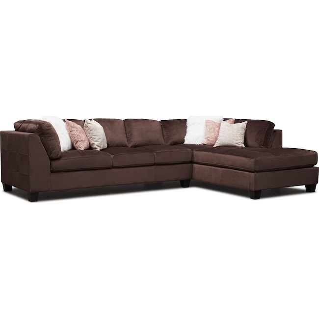 Superb Mackenzie 2 Piece Sectional With Chaise Inzonedesignstudio Interior Chair Design Inzonedesignstudiocom