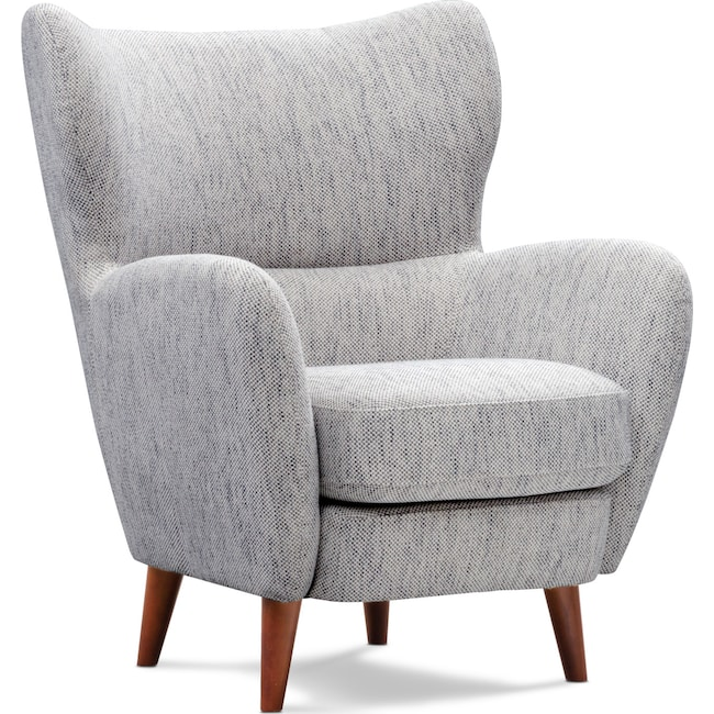 Living Room Furniture - Tiffin Accent Chair - Gray