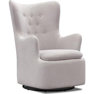 Addie Swivel Chair - Gray