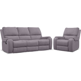 Austin Manual Reclining Sofa and Recliner Set