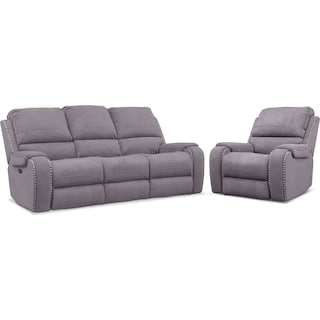 Austin Dual-Power Reclining Sofa and Recliner Set