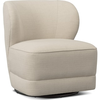 Lounge Swivel Chair - Ivory