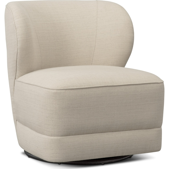 Living Room Furniture - Lounge Swivel Chair - Ivory