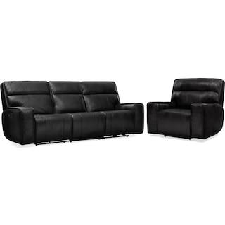 Bradley Triple-Power Reclining Sofa and Recliner Set