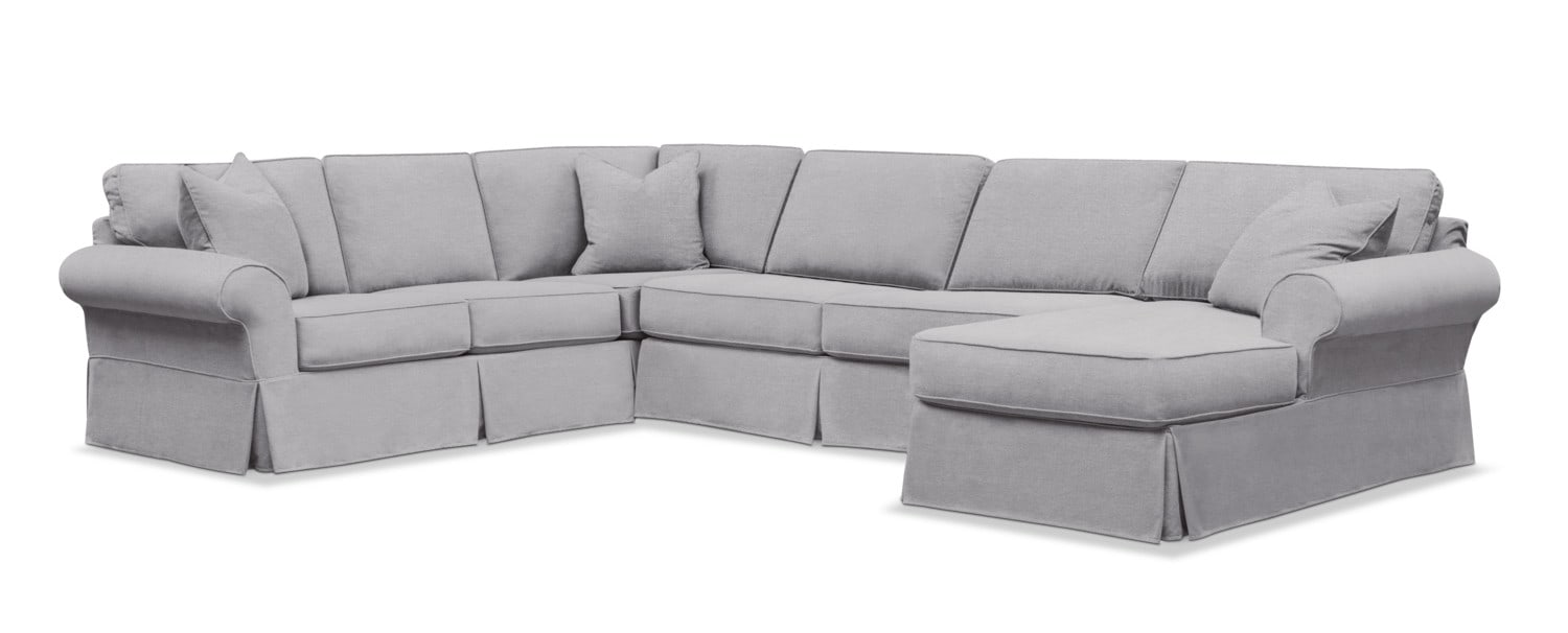Living Room Furniture - Sawyer 3-Piece Slipcover Sectional with Chaise