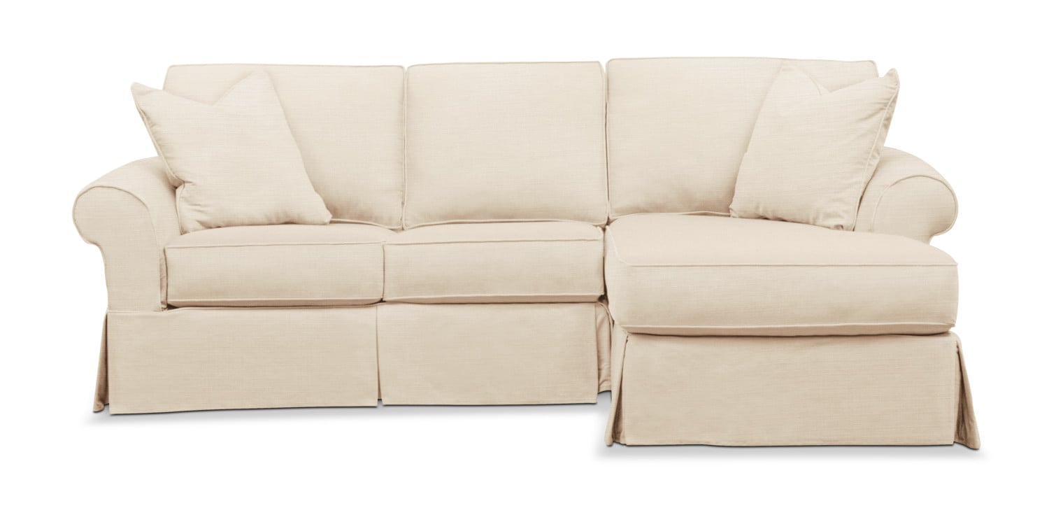 Living Room Furniture - Sawyer 2-Piece Slipcover Sectional with Loveseat and Chaise