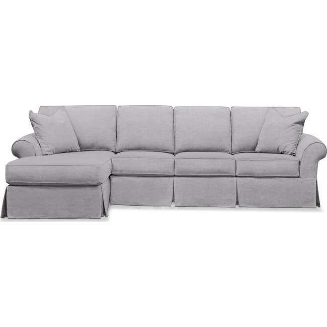 Sawyer 2 Piece Slipcover Sectional With Sofa And Chaise Value City