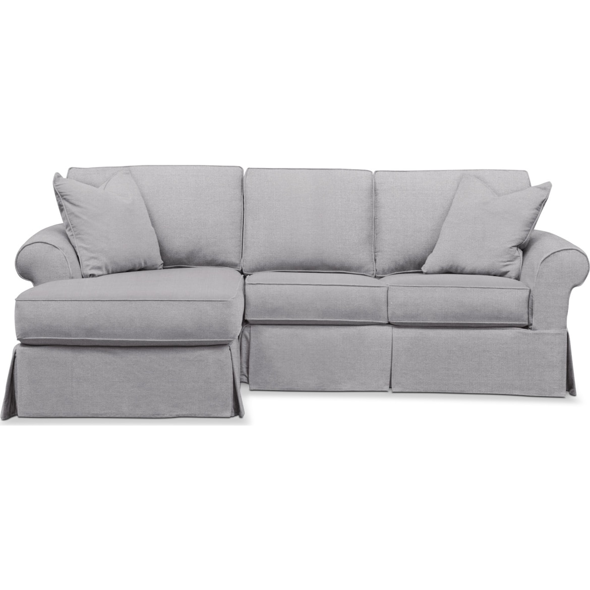 Phenomenal Sawyer 2 Piece Small Slipcover Sectional With Chaise Gmtry Best Dining Table And Chair Ideas Images Gmtryco