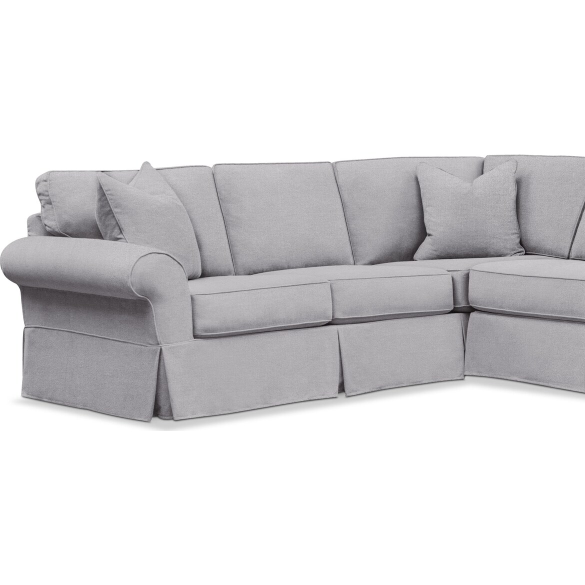 Sawyer 3-Piece Slipcover Sectional with Chaise | Value City ...
