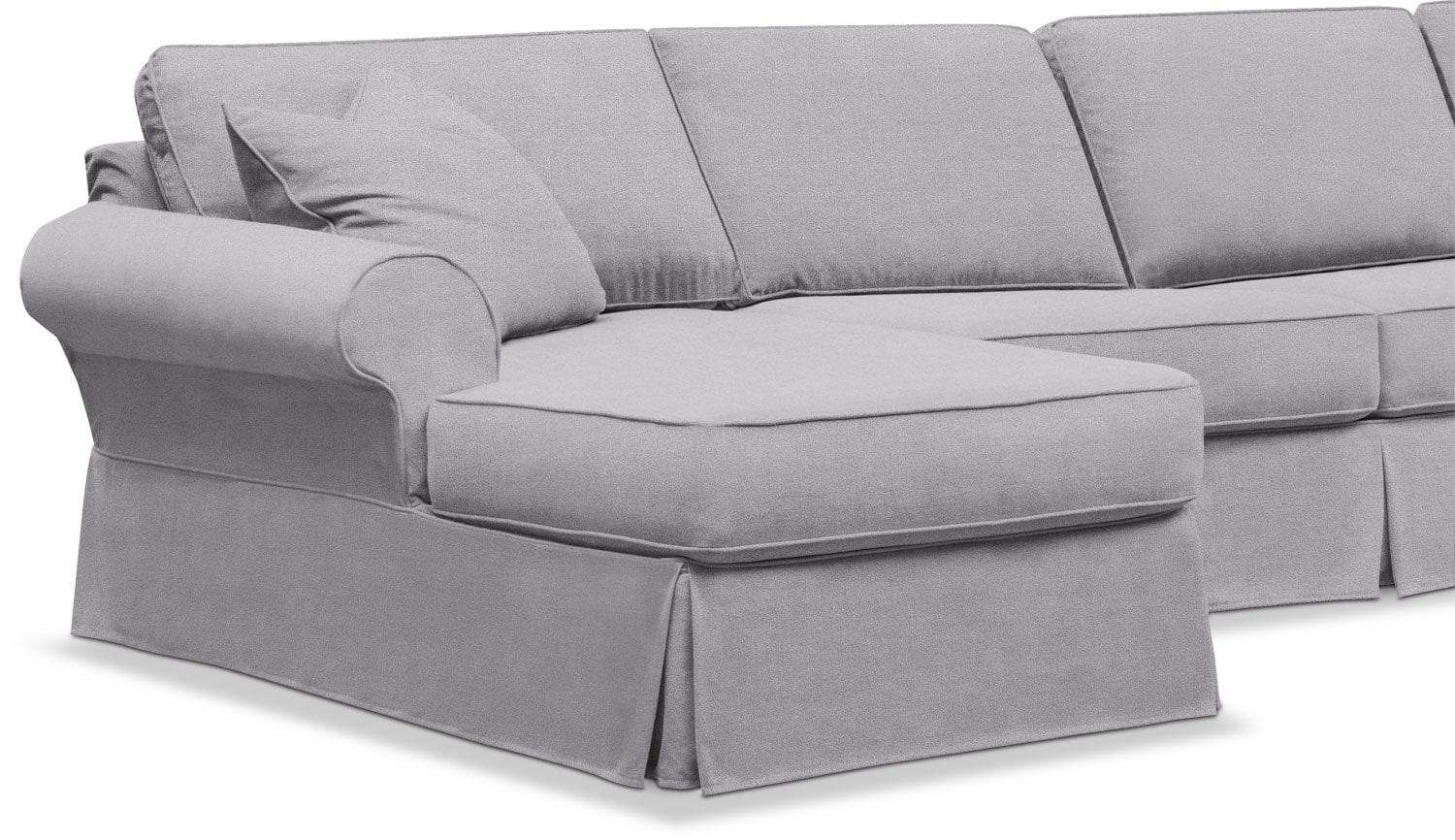 Sawyer 3 Piece Slipcover Sectional With Chaise Value City