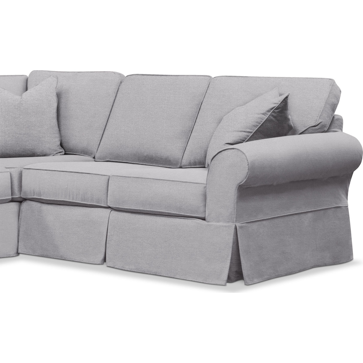 Sawyer 2 Piece Small Slipcover Sectional Value City