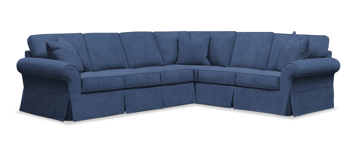Sawyer 2-Piece Slipcover Sectional with Sofa