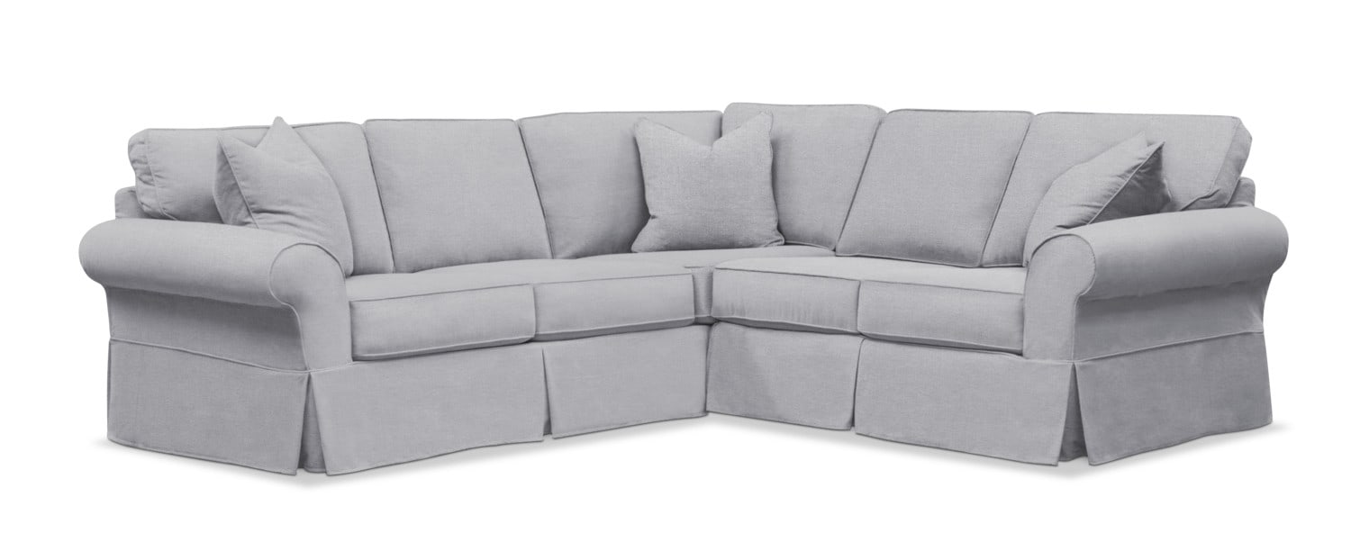 Sawyer 2-Piece Slipcover Sectional with Sofa and Loveseat | Value ...