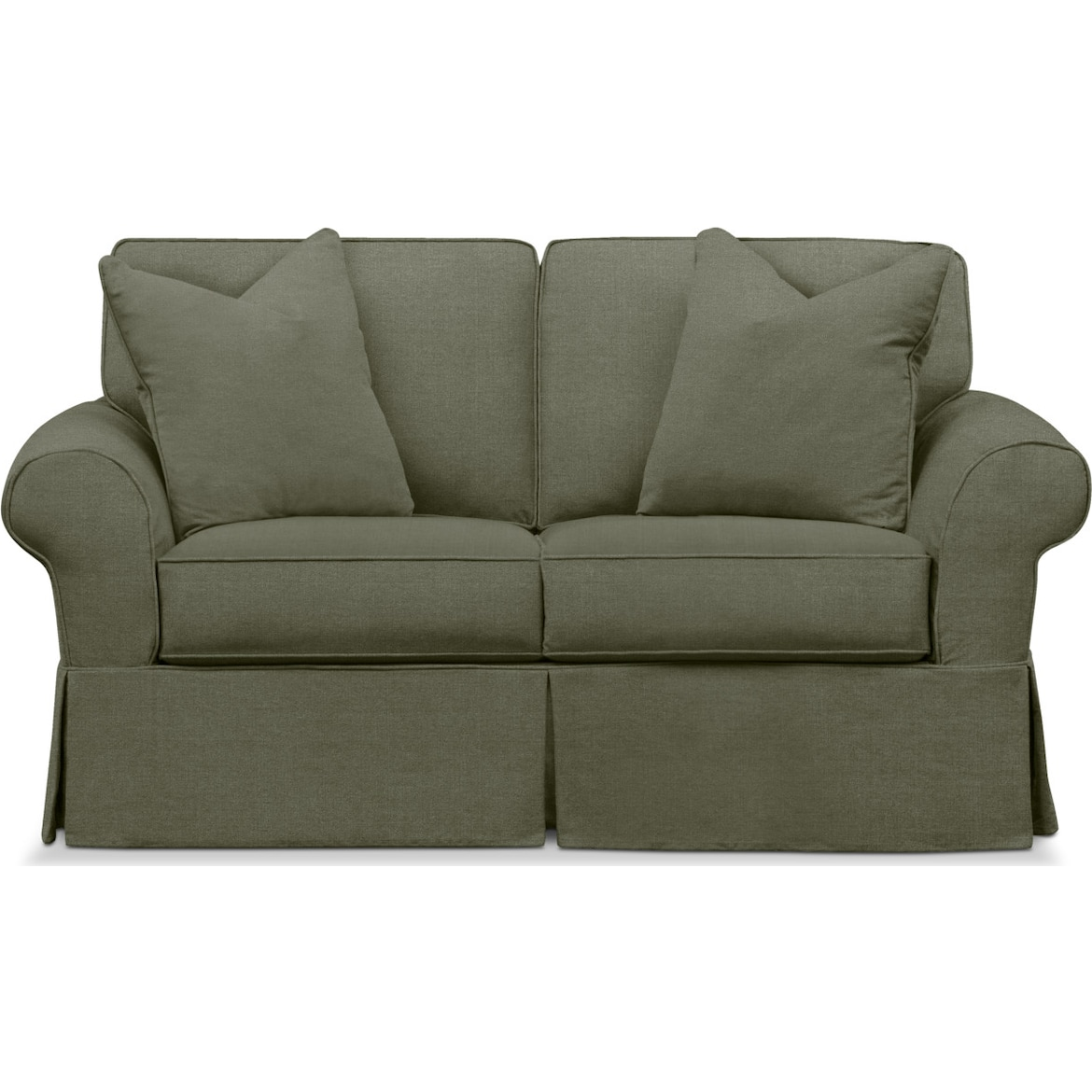 Sawyer Slipcover Loveseat Value City Furniture And