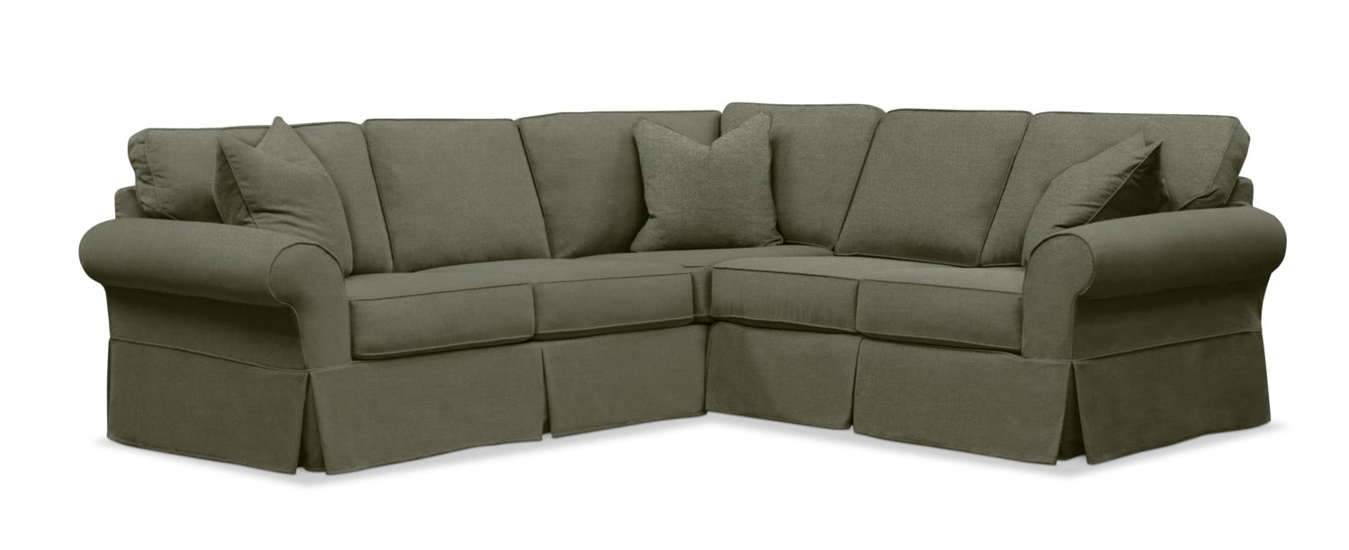 Sawyer 2 Piece Slipcover Sectional With Sofa And Loveseat