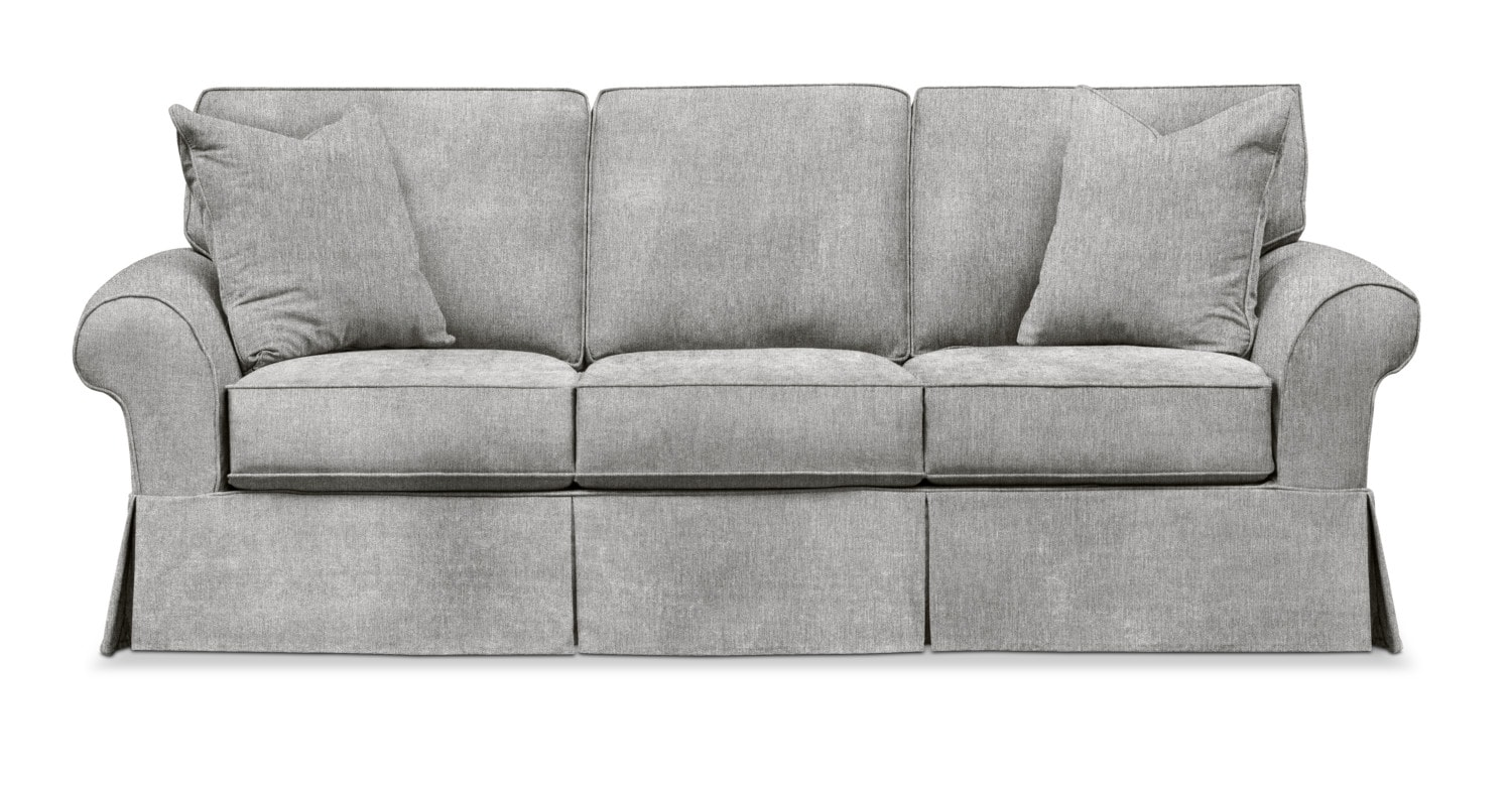 Living Room Furniture   Sawyer Slipcover Sofa   Kelly Gray