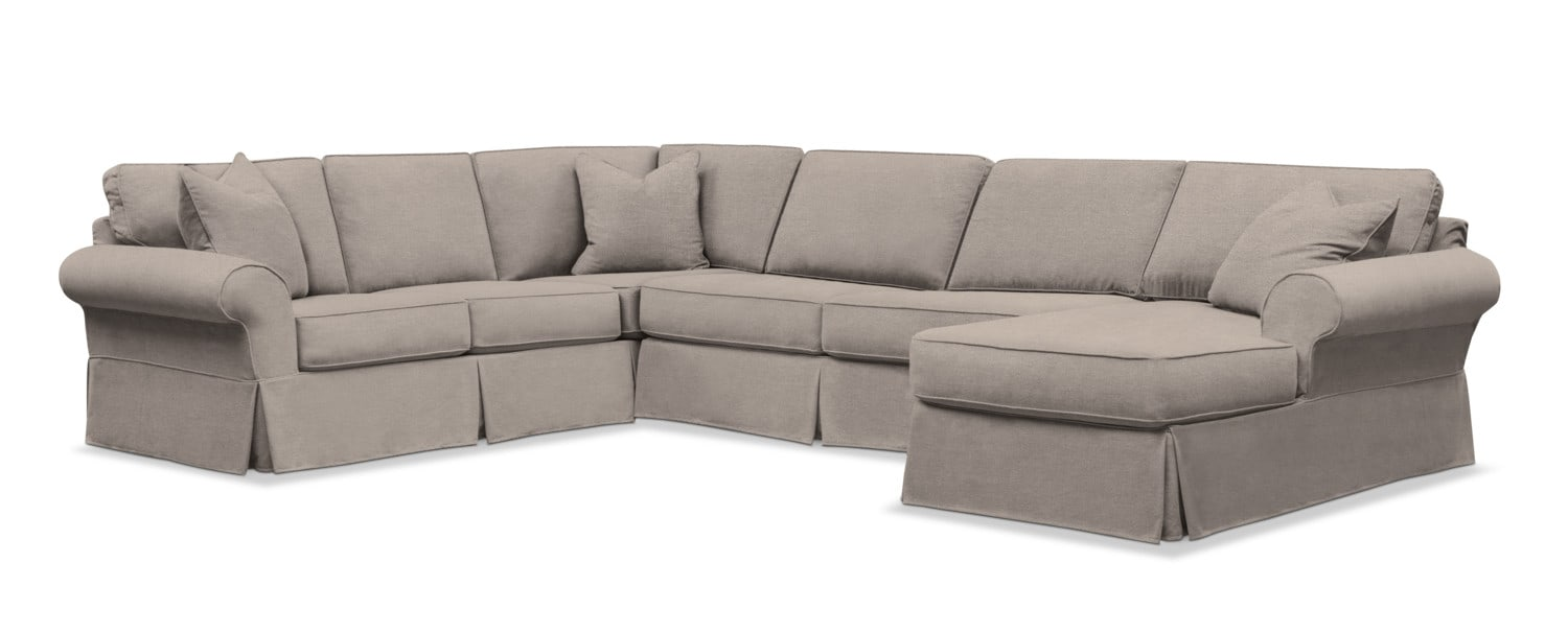Sawyer 3-Piece Slipcover Sectional with Chaise | Value ...